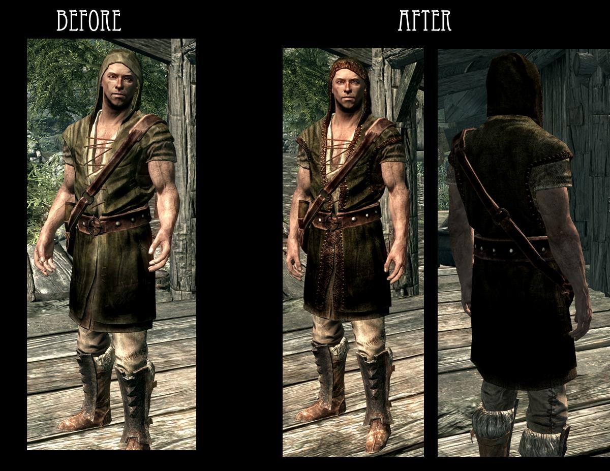 Skyrim - новые текстуры для одежды NPC