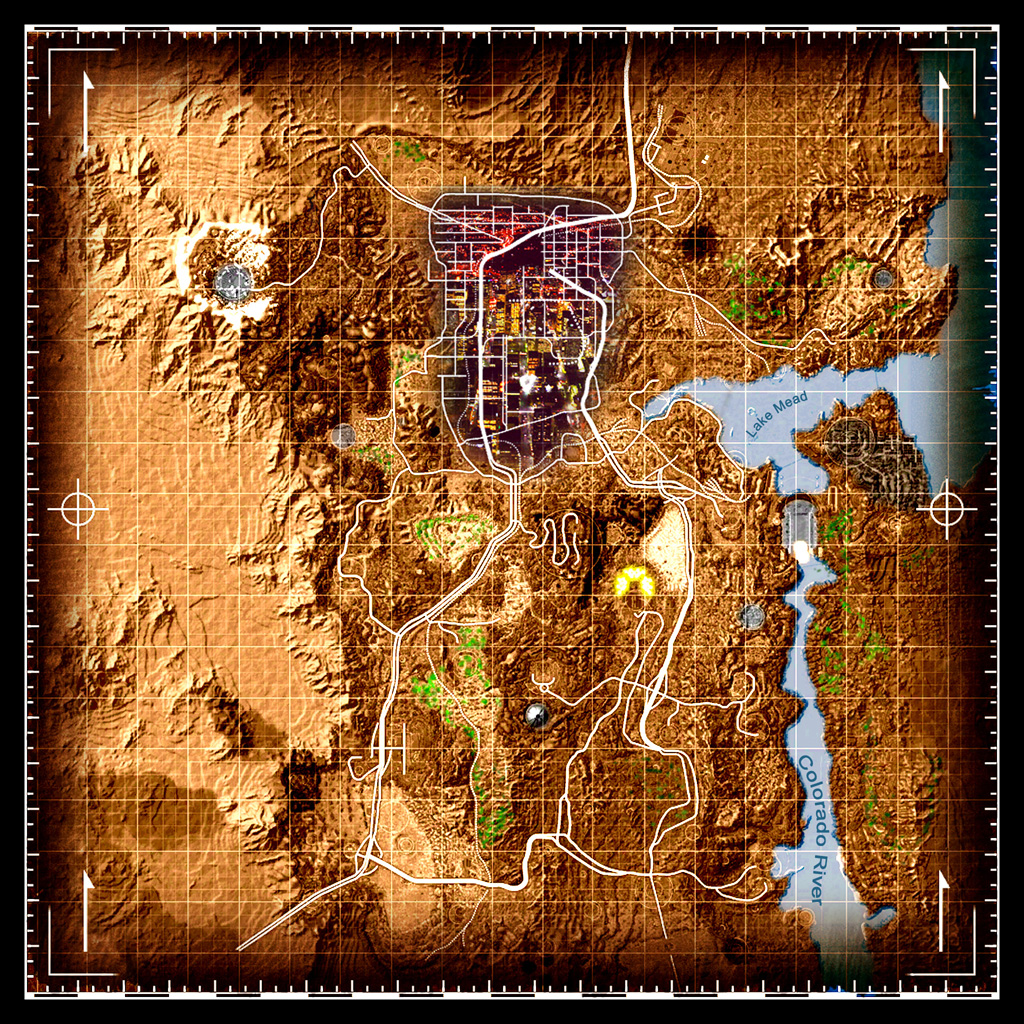 Shiloh DS Colored Map and Icons Fallout New Vegas UI Mods Images