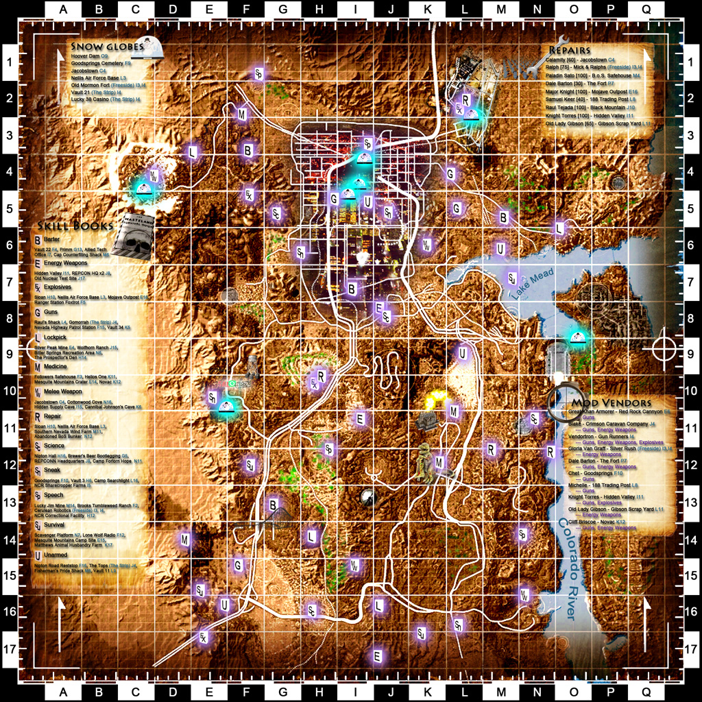 Shiloh DS Colored Map and Icons - Fallout New Vegas UI Mods Images