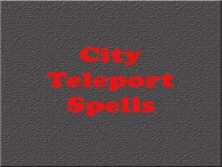 City Teleport