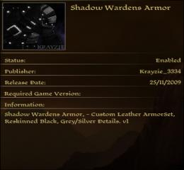 Shadow Warden Armor