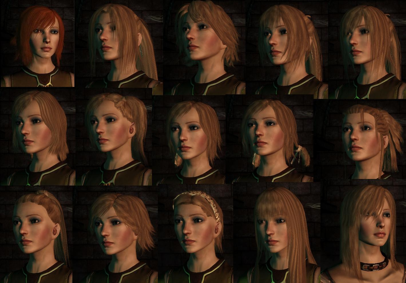 More HairStyles - Dragon Age Origins Images