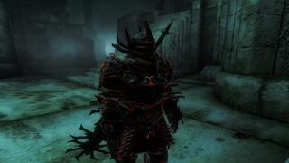 Animated Daedric Chainsaw Weapon