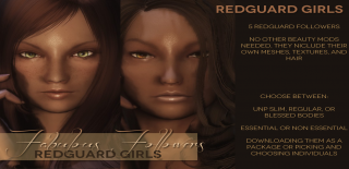 Fabulous Followers 5 Redguard Girls