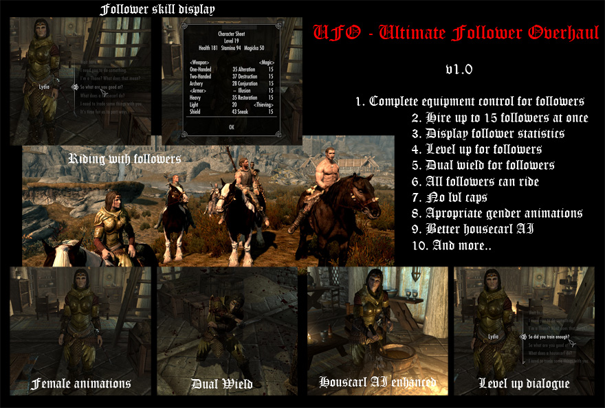 Ultimate Follower Overhaul - Elder Scrolls Skyrim Companions