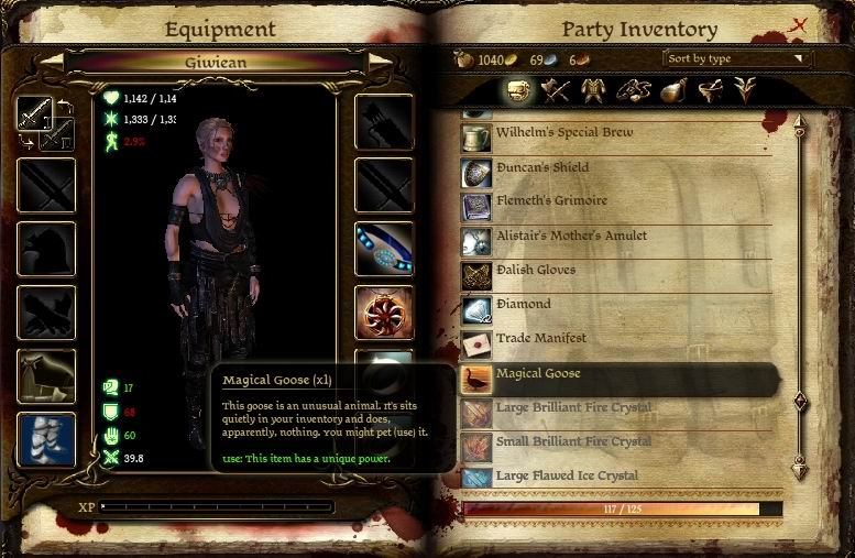 dragon age origins how to give gifts