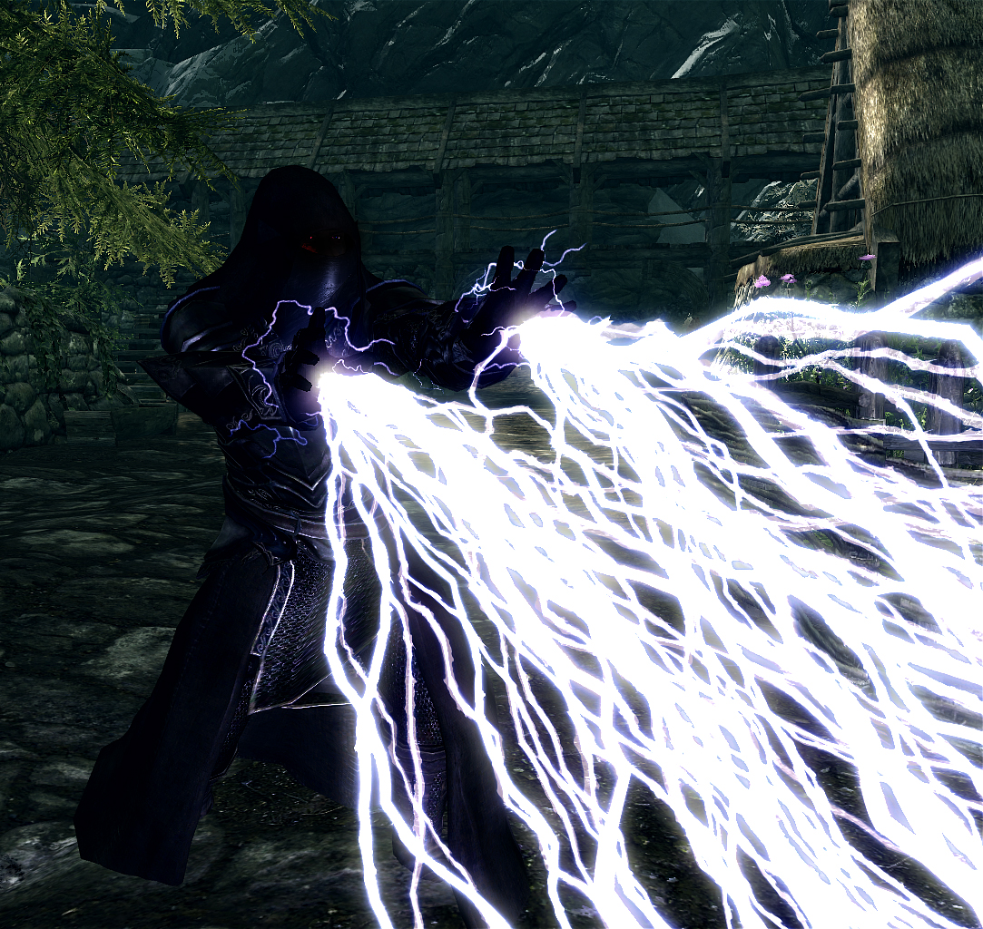 Lightning 1 & Sith Lightning - Elder Scrolls Skyrim Magic Mods Images