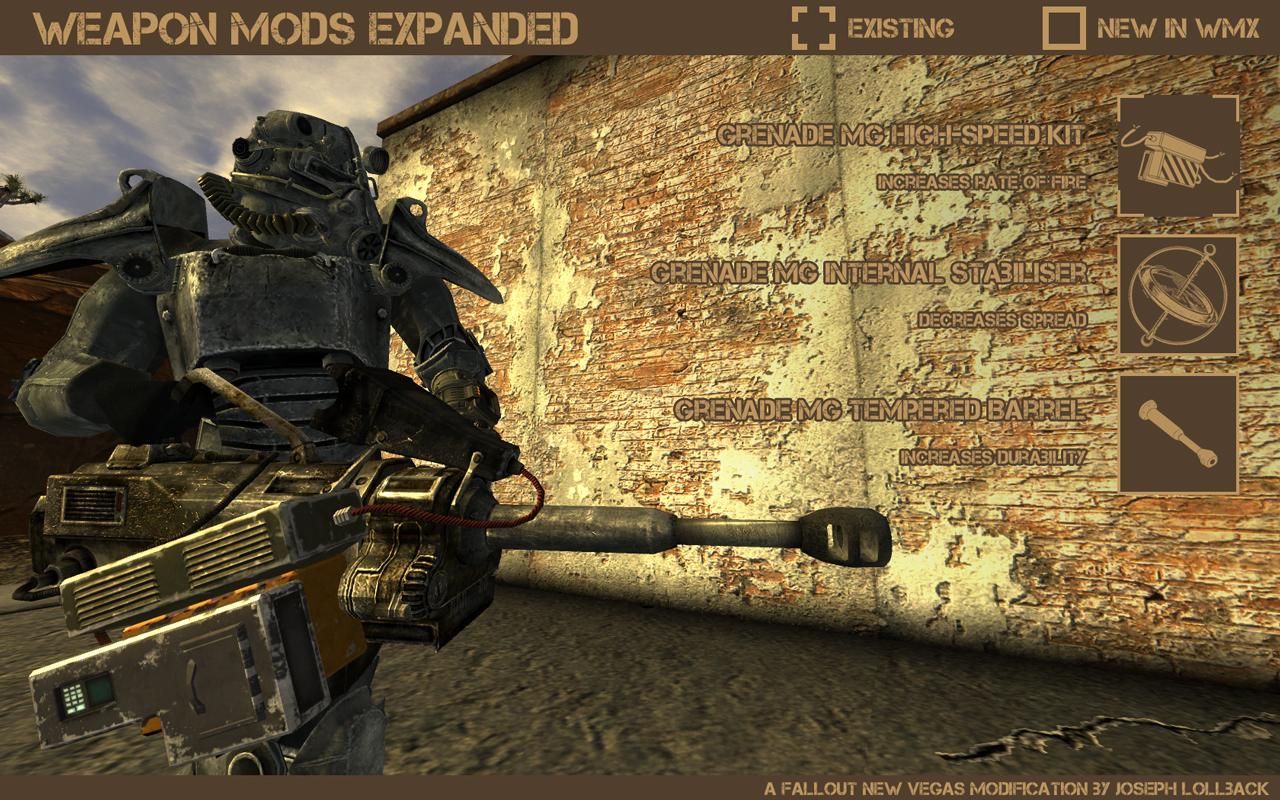 fallout new vegas grenade machine gun