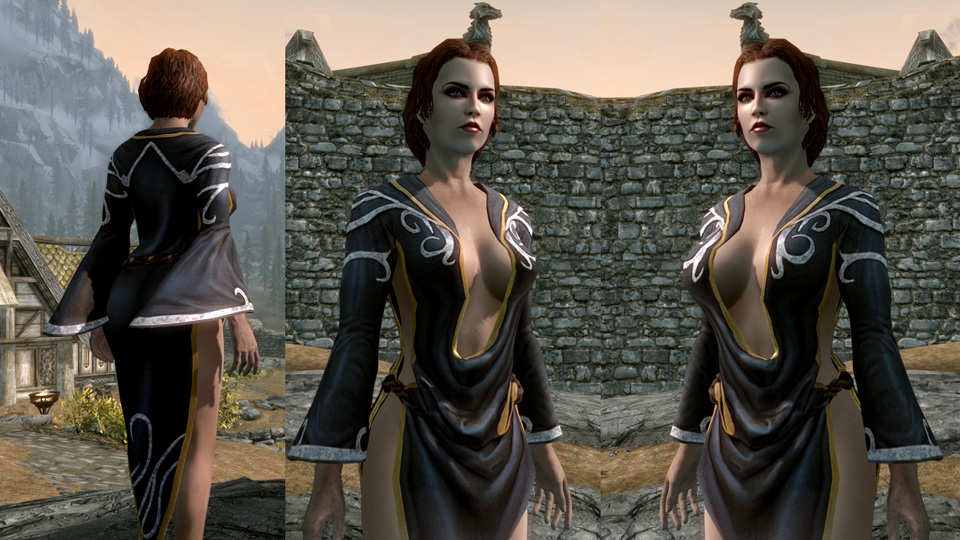Nocturnal Dress for CBBE - Elder Scrolls Skyrim Clothing Images