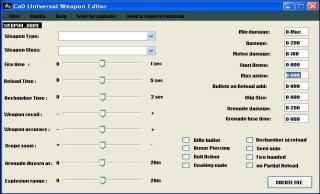 Universal Weapon Editor