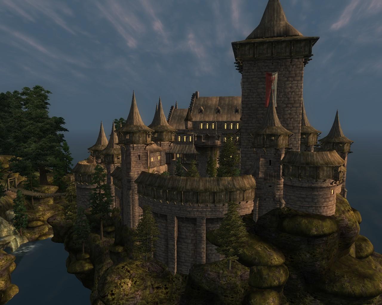 Castle Wolfspike V2 Elder Scrolls Oblivion Castles